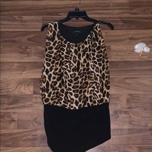 LIKE NEW! Leopard print mini dress. Worn once!
